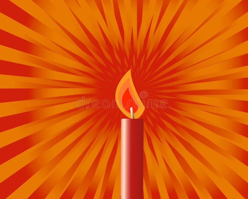 Download Candle stock vector. Illustration of illumination, drawn - 17366922