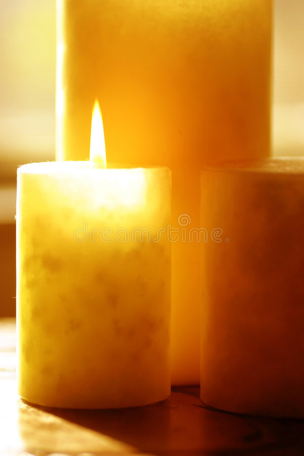 Candle. 3 aromatherapy candles