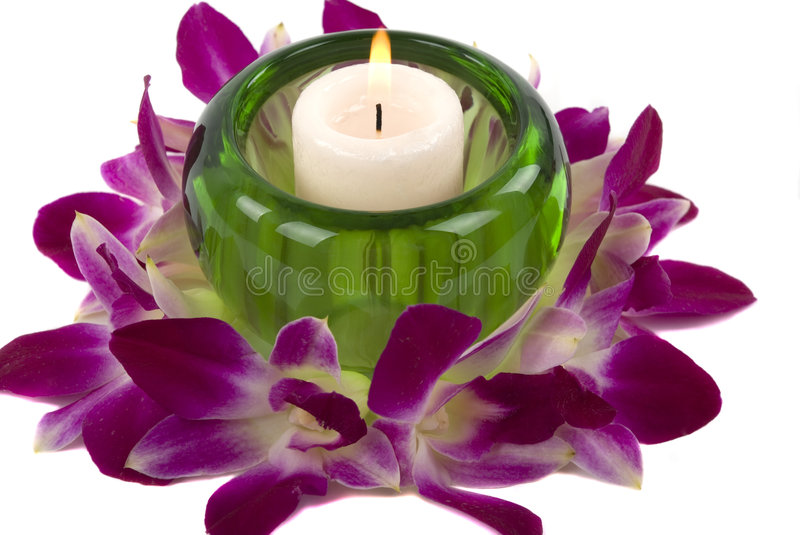 Download Candle stock image. Image of floral, luxury, green, background - 1957947