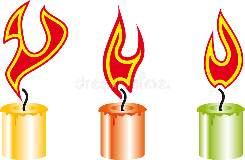 Download Candle stock vector. Image of candle, romantic, yellow - 19919328