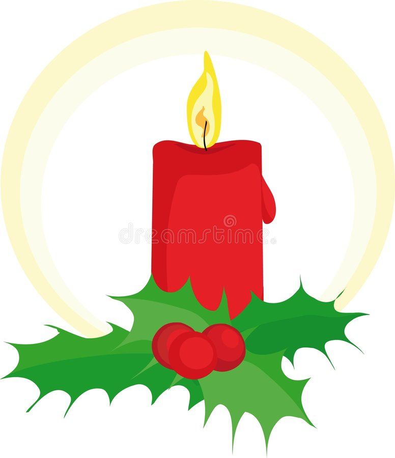 Download Candle stock vector. Image of holiday, green, orange, gifts - 5264166