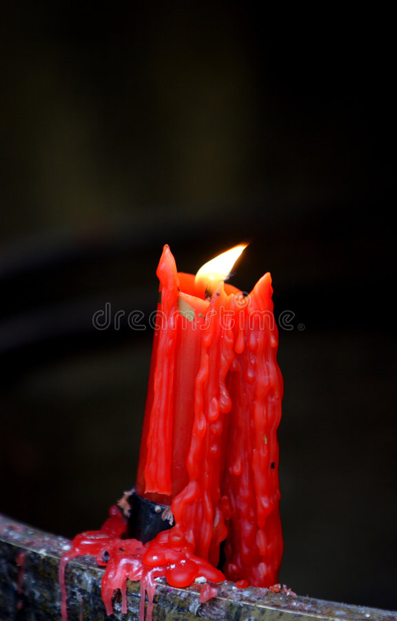 Candle. The candle with beautiful colors royalty free stock photography