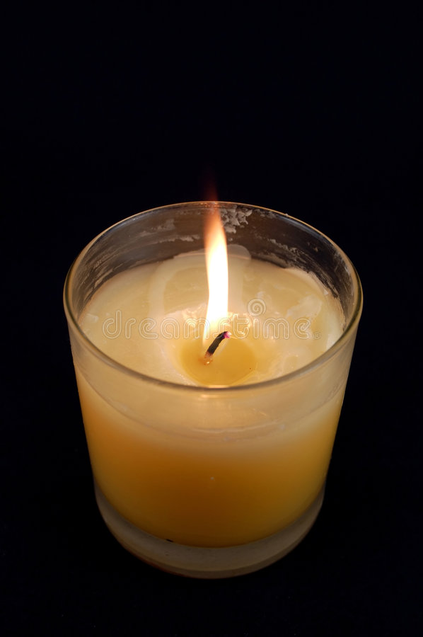 Download Candle Against Black Background Stock Images - Image: 510414