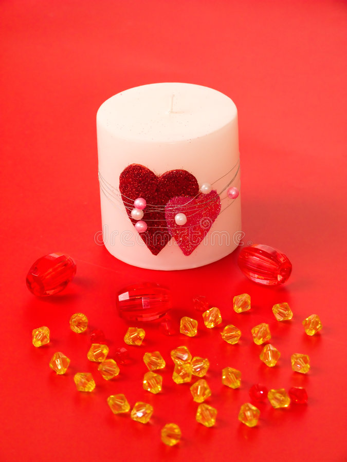 Free Candle And Beads Royalty Free Stock Photos - 3433538