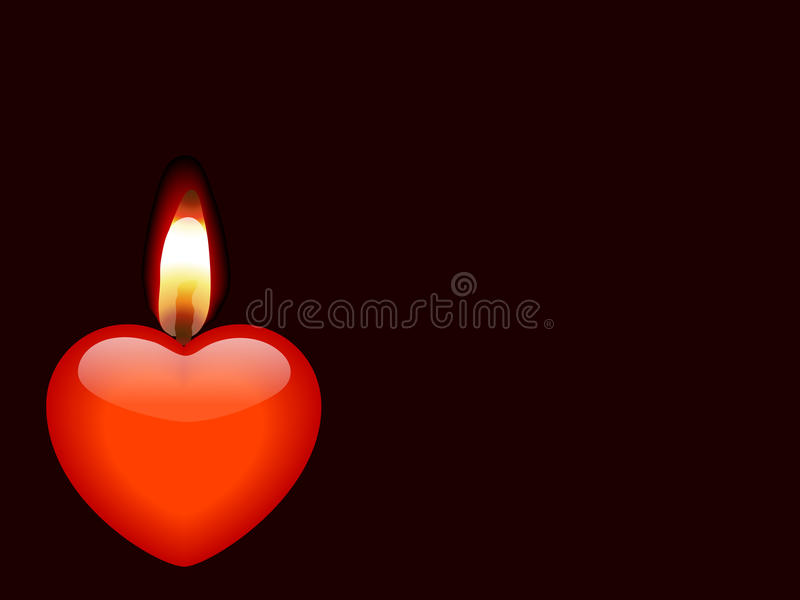Download Candle As Heart Stock Photo - Image: 12688470