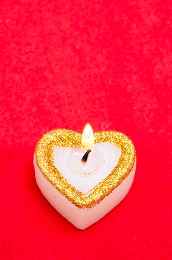 Download Candle as heart is on stock image. Image of flame, card - 27739165