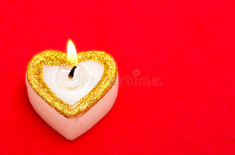 Download Candle As Heart With Free Space Stock Photo - Image: 27739190
