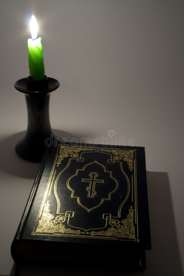 Download Candle and Bible stock photo. Image of knowledge, bible - 1519414