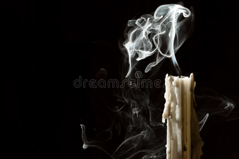 Download Candle blow off with smoke stock image. Image of extinguishing - 21239765