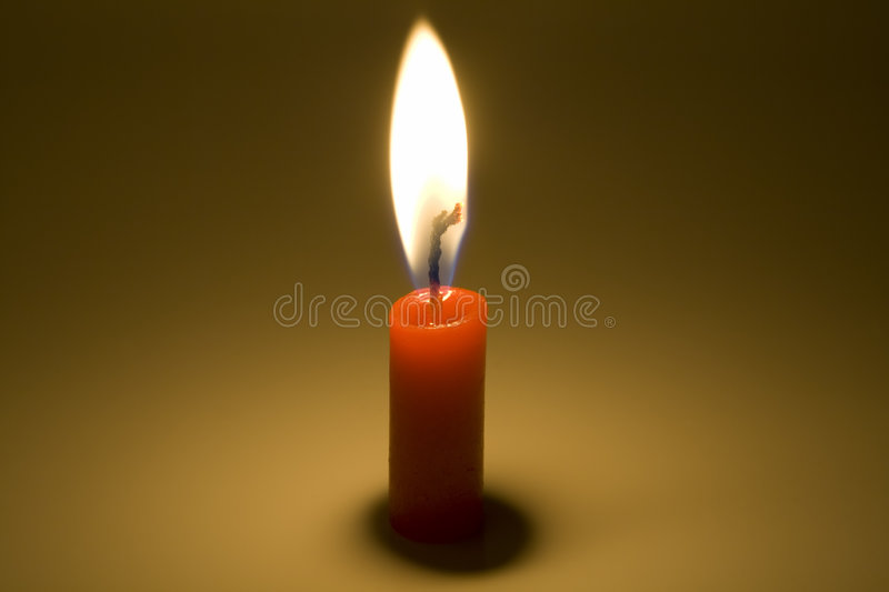 Candle is burning royalty free stock images