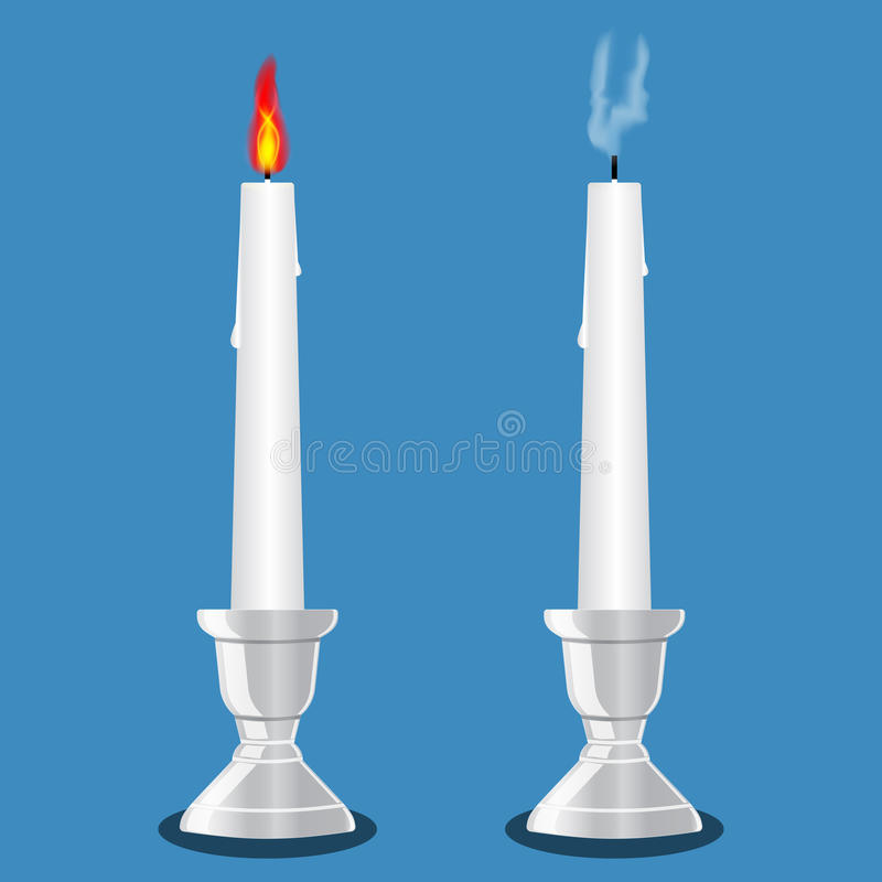 Candle in candlestick royalty free stock image