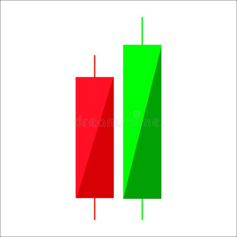 Candle a carta de troca do gráfico da vara para analisar o comércio no para ilustração royalty free