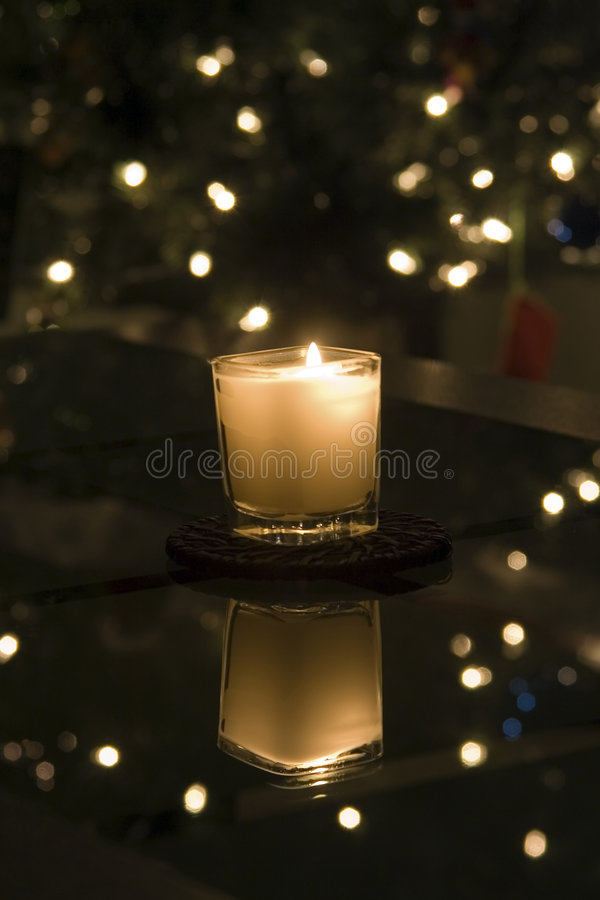 Download A Candle At Christmas Stock Image - Image: 1808311