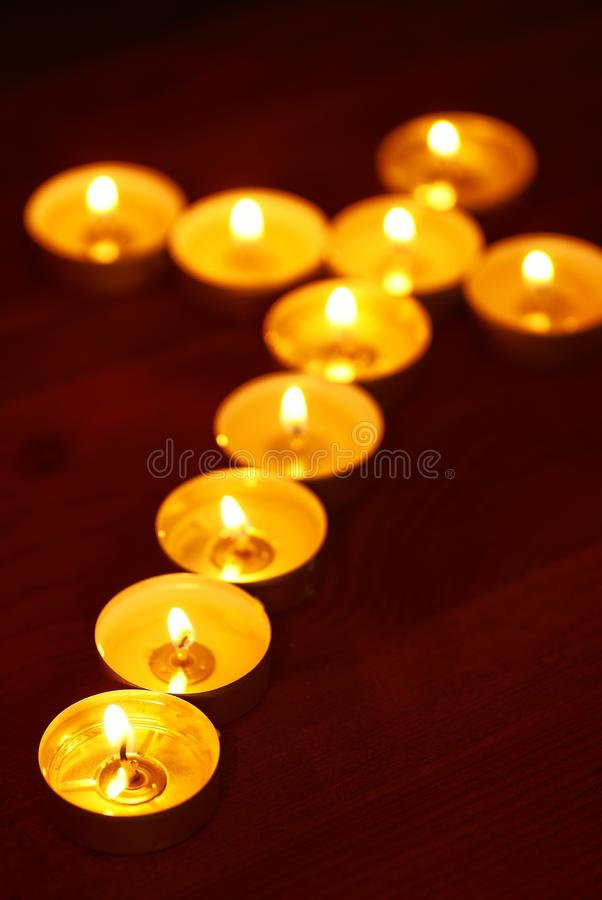 Candle Cross Stock Photo Image Of Focus Spirituality 32748482