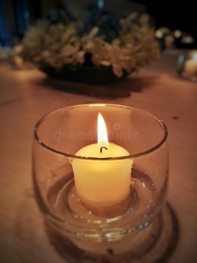 Candle in cup royalty free stock images