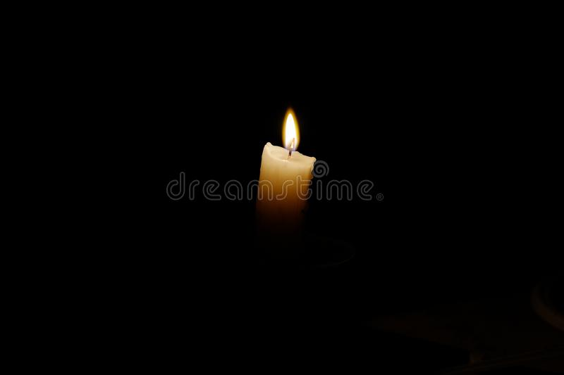 Candle dark flame royalty free stock image