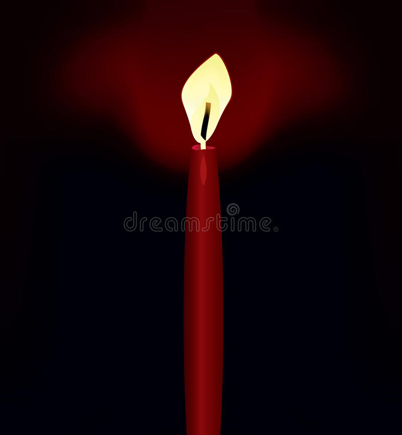 Download Candle in darkness stock vector. Illustration of holiday - 16512942