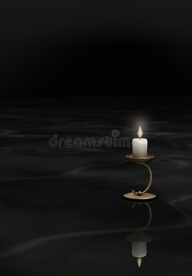 Download Candle in the darkness stock illustration. Image of guide - 22129551