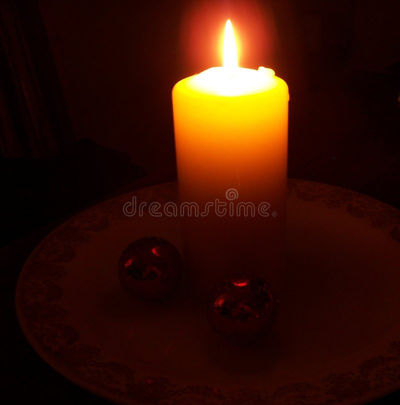Download Candle in Darkness stock image. Image of plate, darkness - 47601