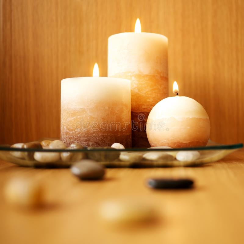 Candle design. Picture of a beautiful candle design stock photos