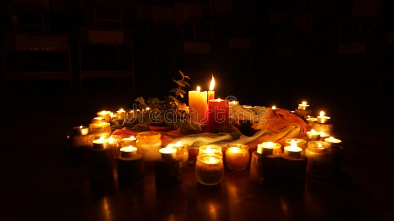 Candle display stock images