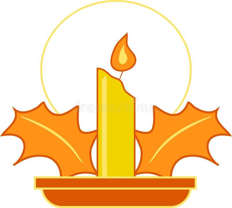 Candle Festive Στοκ εικόνα με δικαίωμα ελεύθερης χρήσης