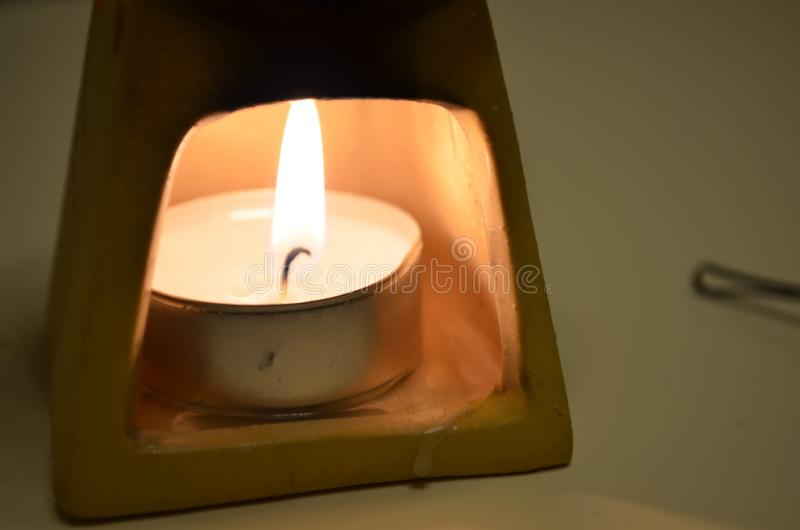 Candle fire royalty free stock images