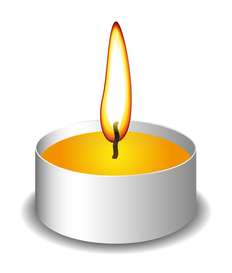 Candle with flame royalty free illustration