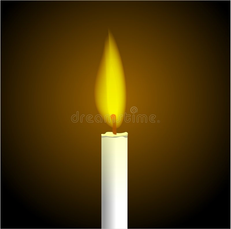 Candle Flame stock illustration