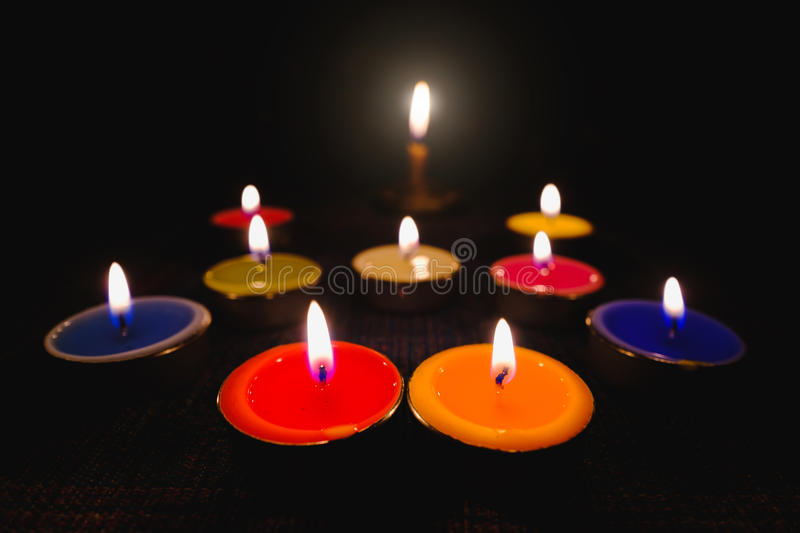 Download Candle Flame Light At Night With Night Background. Stock Image - Image of night, abstract: 83700081