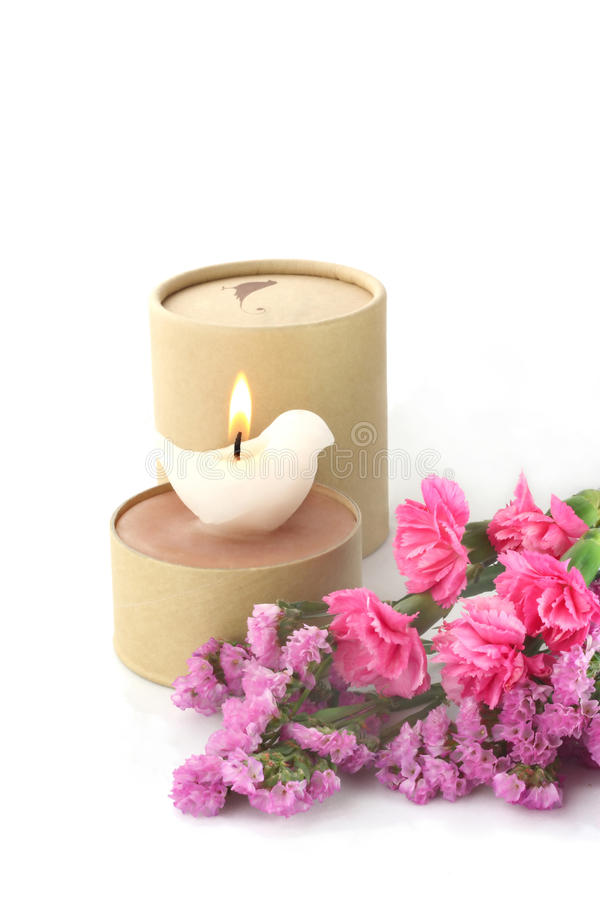 Download Candle And Flower Royalty Free Stock Image - Image: 13312306
