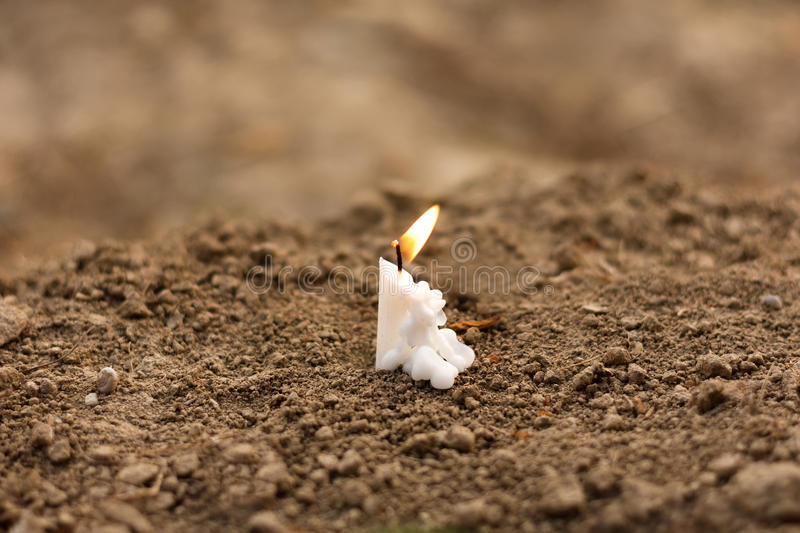 Candle on funeral royalty free stock image