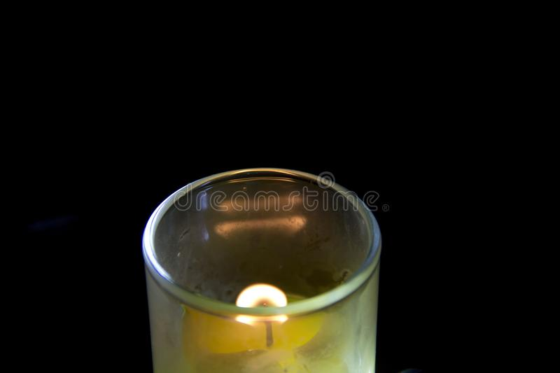 Candle in a glass royalty free stock image