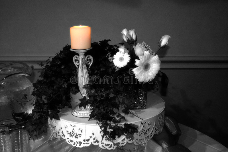 Candle glow stock images