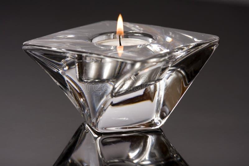 Candle holder. Closeup of stylish candle holder stock photo