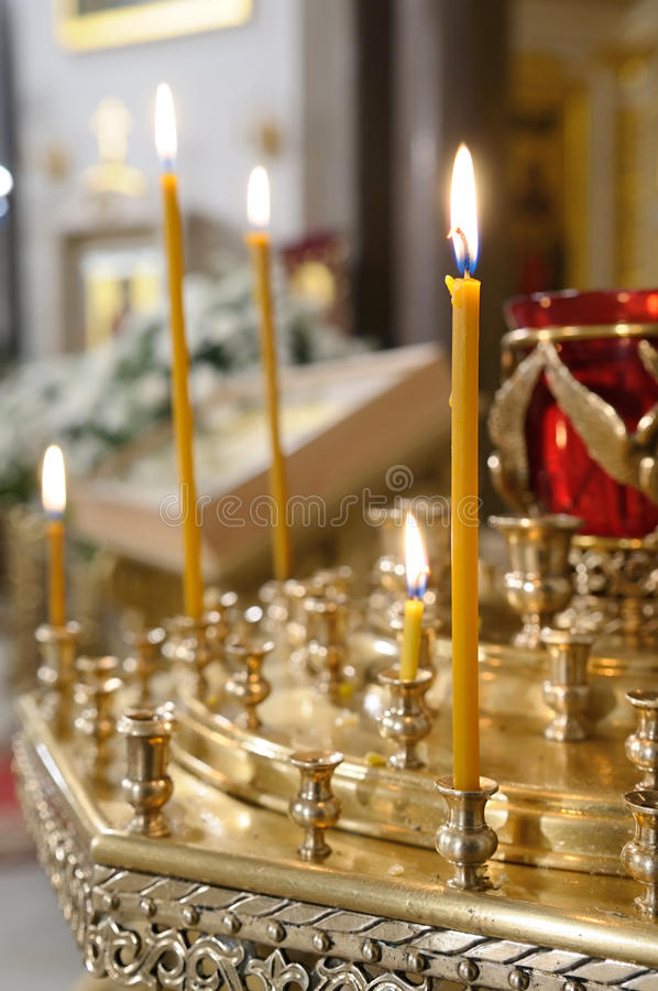 Candle holder at the Church.