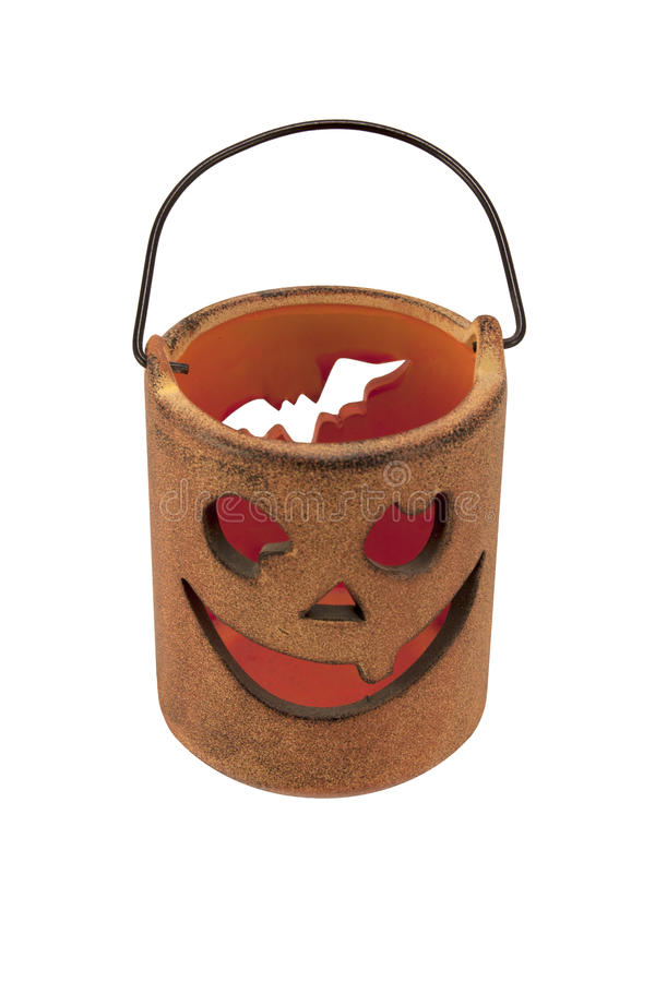 Candle holder for Halloween stock image