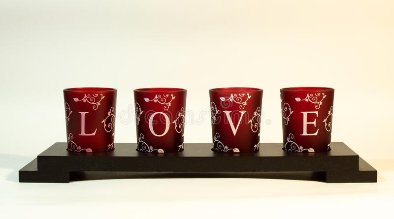 Candle holder love royalty free stock photography