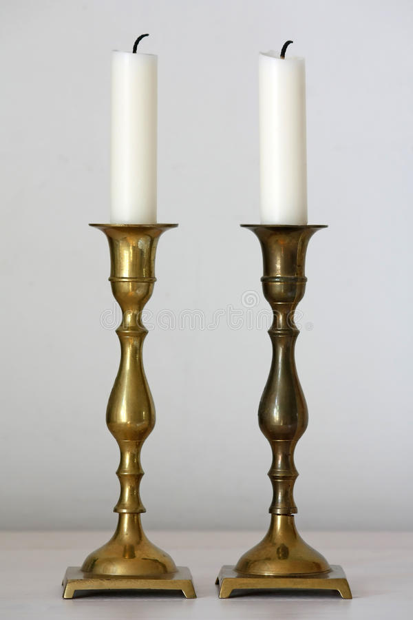 Candle holders stock photo
