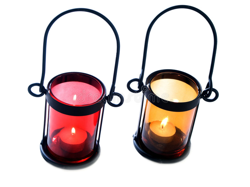Candle holders royalty free stock photo
