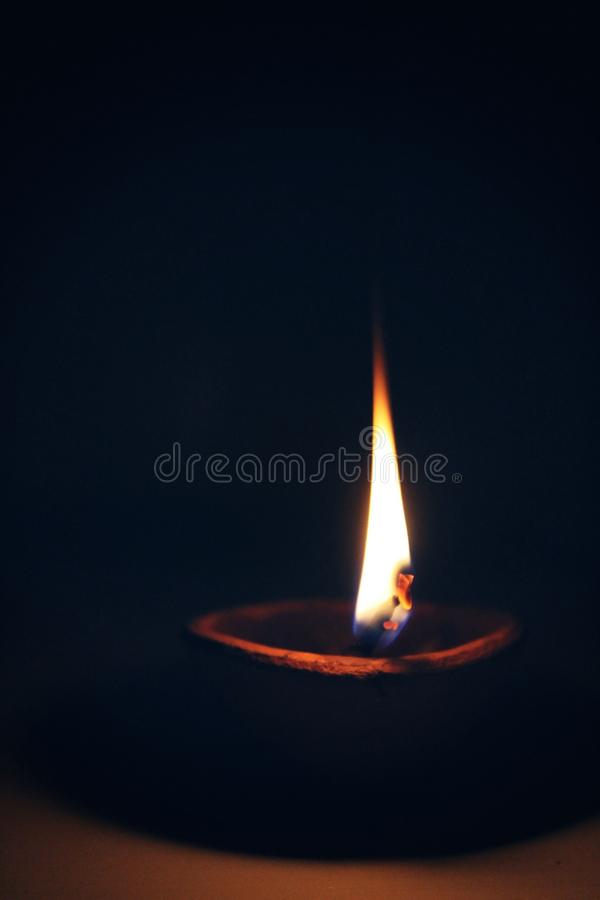 Candle With Light royalty free stock photo