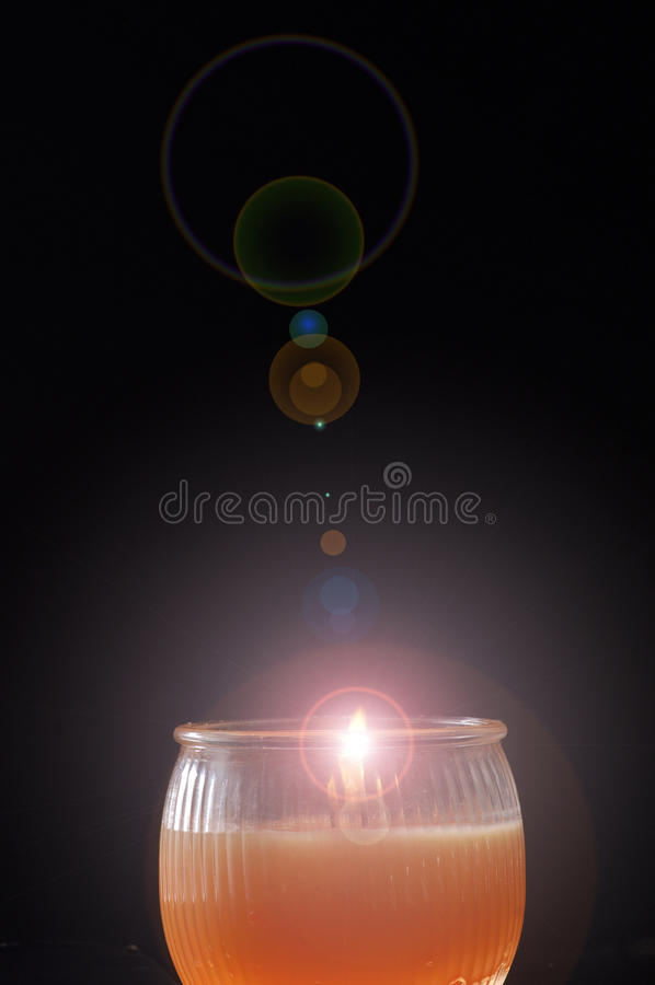 Download Candle light stock image. Image of glass, orange, lamp - 14851865