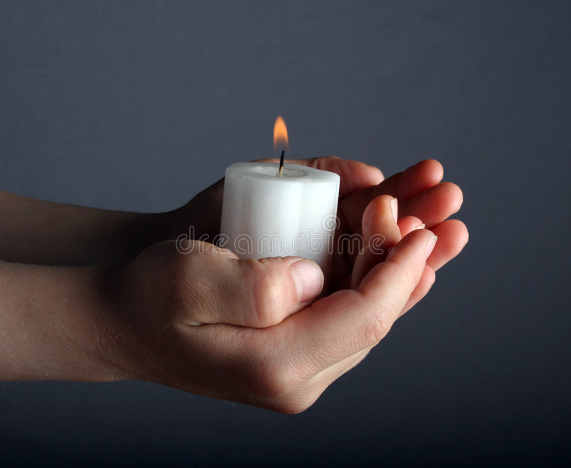 Download Candle Light stock photo. Image of offering, flame, wick - 4991812
