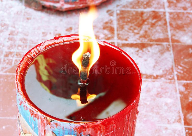 Download Candle Light On Chinese Temple Stock Photo - Image of decorative, celebrate: 7790436