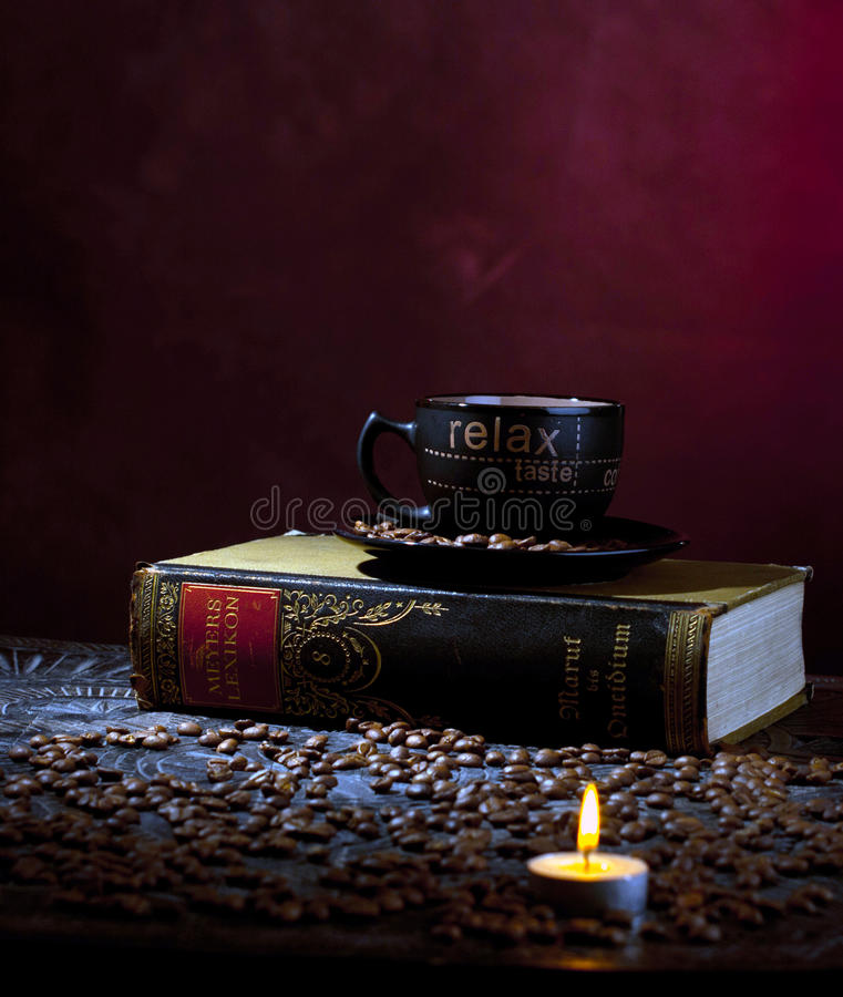 Candle Light And Coffee Royalty Free Stock Photo