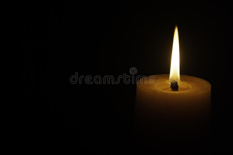 The Candle light. The candle in the darkness like hope in the dark royalty free stock photos