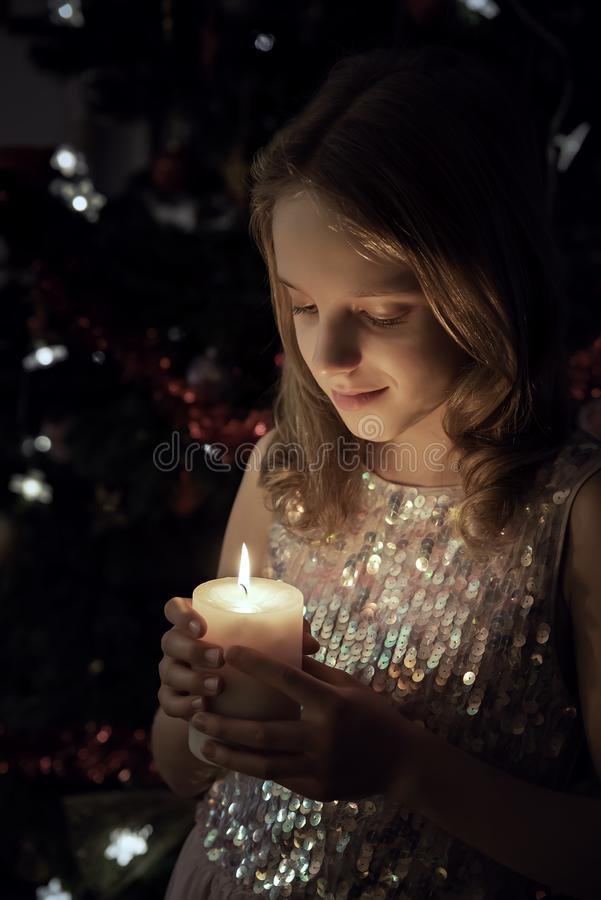 The Candle light royalty free stock image