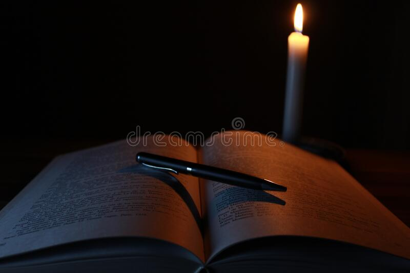 Candle Lighting Pages Of Open Book Free Public Domain Cc0 Image