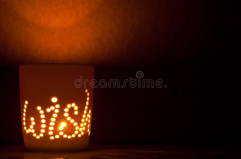 Download Candle lit cup. stock image. Image of dark, wish, candle - 28251675