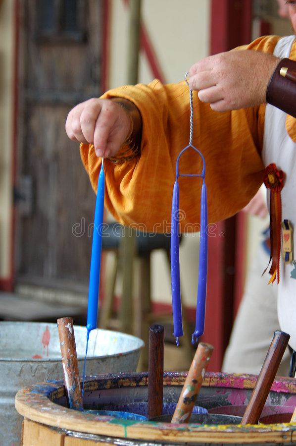 Candle Maker stock image